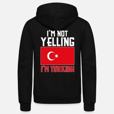 Turkish Funny Turkey Turkish Turk Pride Funny saying - Unisex Fleece Zip Hoodie
