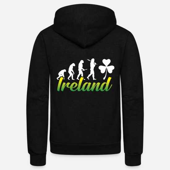 Ireland Hoodies & Sweatshirts - Ireland - Unisex Fleece Zip Hoodie black