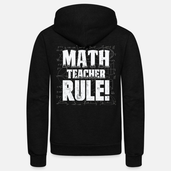Mathematics Hoodies & Sweatshirts - Mathematics Formulas Angles Mathematics Calculatin - Unisex Fleece Zip Hoodie black