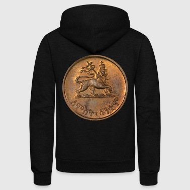 Lion of Judah - Jah Rastafari Emperor of Ethiopia - Unisex Fleece Zip Hoodie