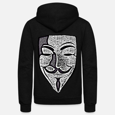 Anonymous Anon Effect Mask - Unisex Fleece Zip Hoodie