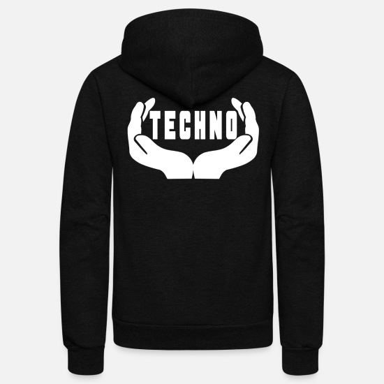 Love Hoodies & Sweatshirts - Techno electronic music rave festival shirt - Unisex Fleece Zip Hoodie black