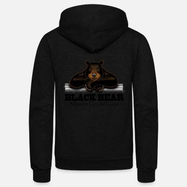Animals Black Bear: Nature's Gentle Giant - Unisex Fleece Zip Hoodie