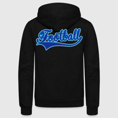 Football Swoosh Colored - Unisex Fleece Zip Hoodie