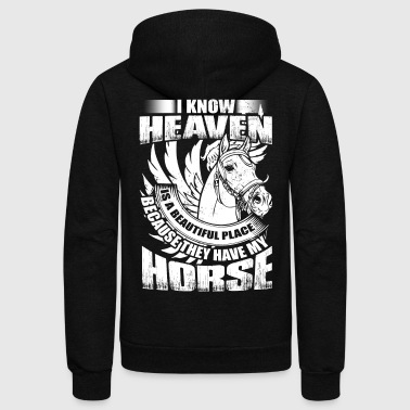 I Know Heaven Is A Beautiful Place T Shirt - Unisex Fleece Zip Hoodie
