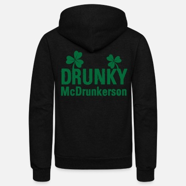 Name Day St. Patricks Day Funny Irish Name Shirt - Unisex Fleece Zip Hoodie