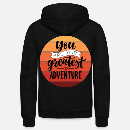 Love Hoodies & Sweatshirts - Dedication adventure love affection - Unisex Fleece Zip Hoodie black