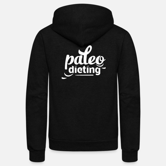 Diet Hoodies & Sweatshirts - Paleo Dieting - Unisex Fleece Zip Hoodie black