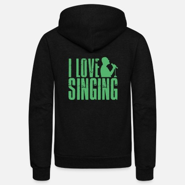 Chant Singer Choir Singing Chanting Chant - Unisex Fleece Zip Hoodie