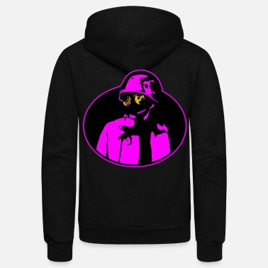 Nuclear Power Pandemic Gas Mask - Soldier Apocalypse T-Shirt. - Unisex Fleece Zip Hoodie