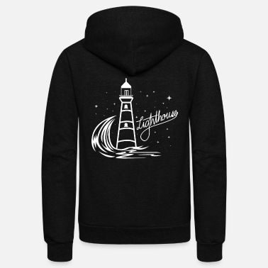 North Sea Lighthouse Coast North Sea Holiday Gift - Unisex Fleece Zip Hoodie