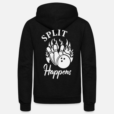 Times Split Happens Bowling - Unisex Fleece Zip Hoodie