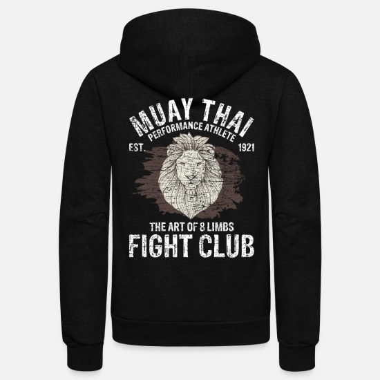 Muay Thai Hoodies & Sweatshirts - Muay Thai Martial Arts - Unisex Fleece Zip Hoodie black