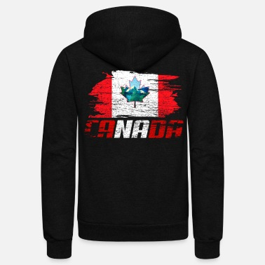 Canada Canada Nation - Unisex Fleece Zip Hoodie