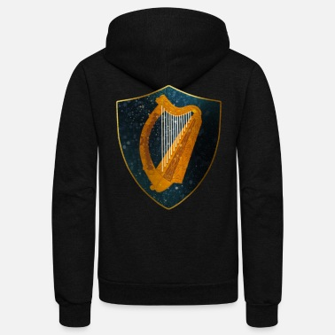 Of Arms Ireland Coat of Arms - Unisex Fleece Zip Hoodie
