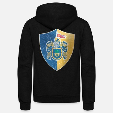 Guadalajara Jalisco Flag Shield - Unisex Fleece Zip Hoodie