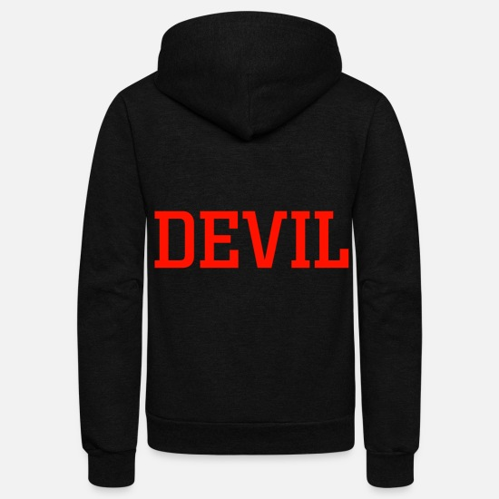 Birthday Hoodies & Sweatshirts - devil - Unisex Fleece Zip Hoodie black