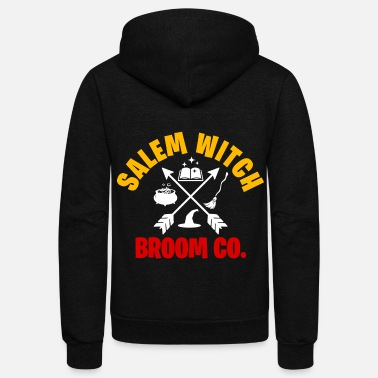 Witchcraft Halloween witch broom witchcraft scary haunted - Unisex Fleece Zip Hoodie