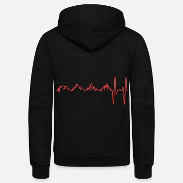 Mountain Climbing Mountains mountain climbing passion climbing sport - Unisex Fleece Zip Hoodie