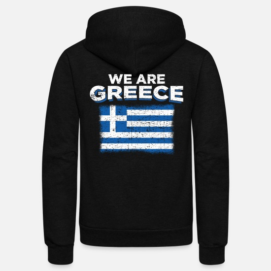Love Hoodies & Sweatshirts - Greece - Unisex Fleece Zip Hoodie black