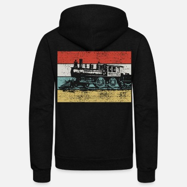 Steam Locomotive Vintage steam locomotive - Unisex Fleece Zip Hoodie