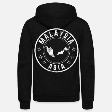 Post Malaysia Post Stempel Briefmarke - Unisex Fleece Zip Hoodie