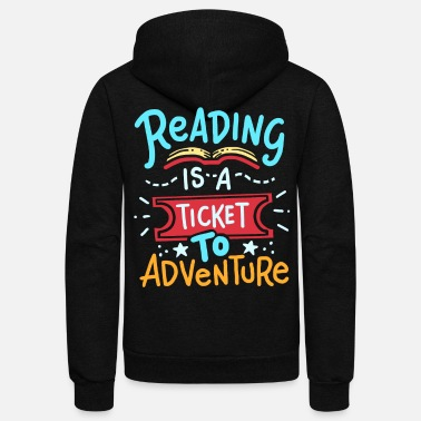 Read Reading Read - Unisex Fleece Zip Hoodie