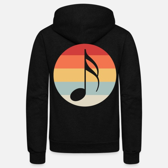Music Note Hoodies & Sweatshirts - Music Note - Unisex Fleece Zip Hoodie black