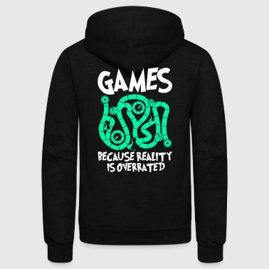Board Game Games Because Board Game - Unisex Fleece Zip Hoodie