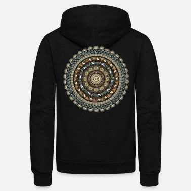 Medallion Pug Yoga Medallion - Unisex Fleece Zip Hoodie