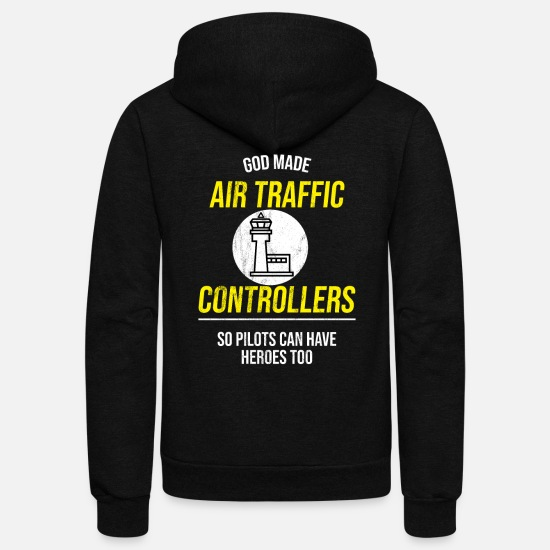 Air Hoodies & Sweatshirts - Air traffic control Tshirt - Air traffic - Unisex Fleece Zip Hoodie black
