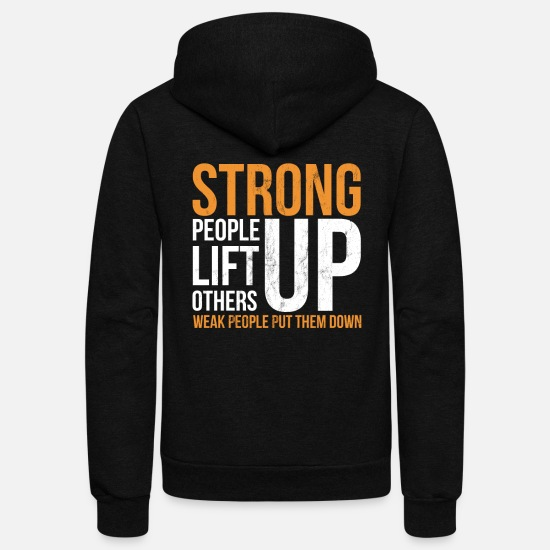 Funny Hoodies & Sweatshirts - Anti Bullying Stop Bully T Shirt Orange Stand Up - Unisex Fleece Zip Hoodie black