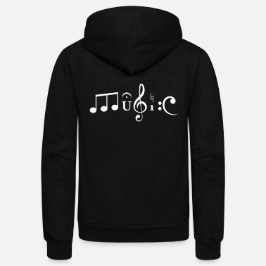 Music Symbols MUSIC Symbols and Notation Abstract TShirt - Unisex Fleece Zip Hoodie
