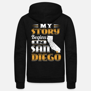 San Diego My Story Begins In San Diego - Unisex Fleece Zip Hoodie