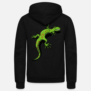 Lizard Gecko Lizard Pet Reptile - Unisex Fleece Zip Hoodie