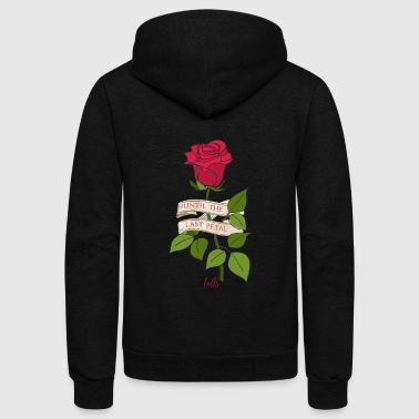 Rose Beauty and the Beast Until the last petal falls - Unisex Fleece Zip Hoodie