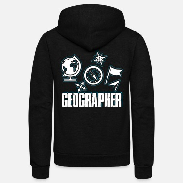 Geographic Geographer - Unisex Fleece Zip Hoodie