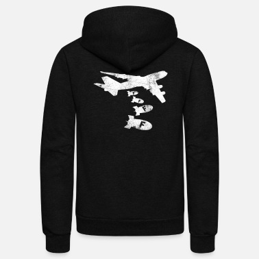 Bomber F Bomb Funny Dropping the F Bomb Distressed Style - Unisex Fleece Zip Hoodie