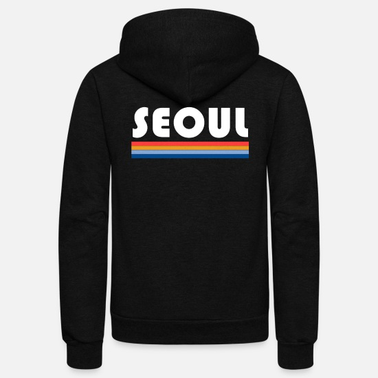 Gift Idea Hoodies & Sweatshirts - seoul colorful colors - Unisex Fleece Zip Hoodie black