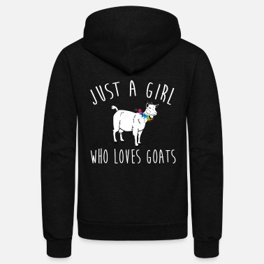 Goat With Flowers Just A Girl Who Loves Goats Gift Shirt - Unisex Fleece Zip Hoodie
