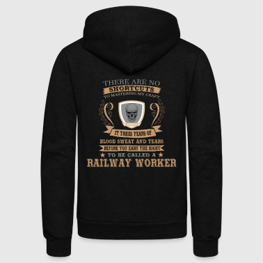 Railway Worker Tshirt Gift for Birthday and XMAS - Unisex Fleece Zip Hoodie
