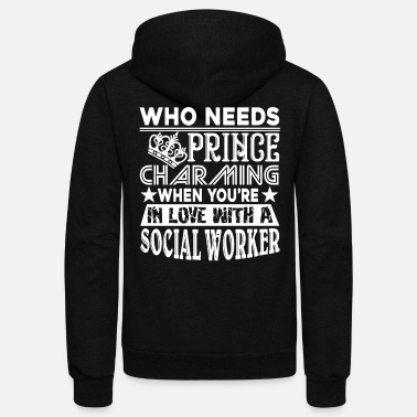 Worker Social Worker - Unisex Fleece Zip Hoodie