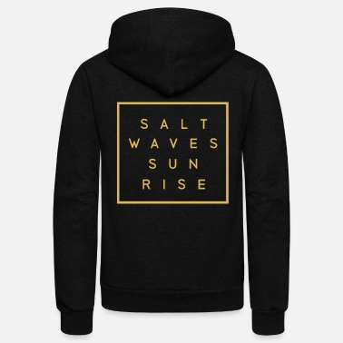 Surfboards Surfgirl Girl Surfcamp Camp Beach Palms Salt waves sunrise - Unisex Fleece Zip Hoodie