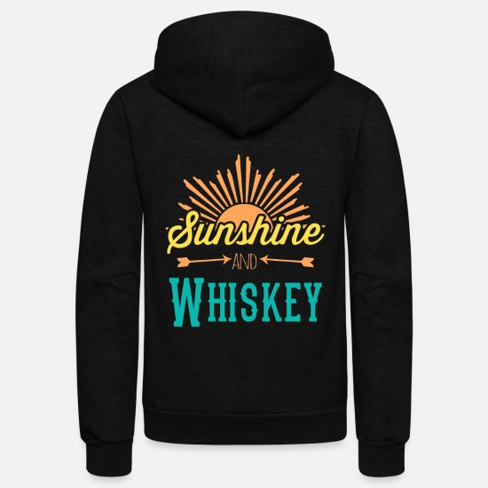 Sunshine Hoodies & Sweatshirts - Sunshine And Whiskey - Unisex Fleece Zip Hoodie black