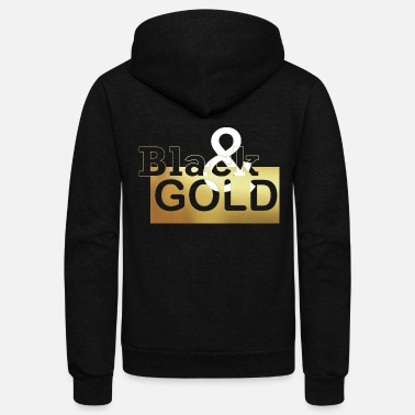 Gold Black Gold - Unisex Fleece Zip Hoodie