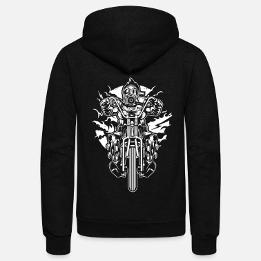 Chopper Biker Motorcycle Chopper - Unisex Fleece Zip Hoodie