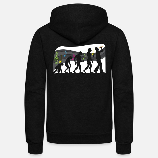 Singer Hoodies & Sweatshirts - Folk Music Musician Singer Vocalist Evolution - Unisex Fleece Zip Hoodie black