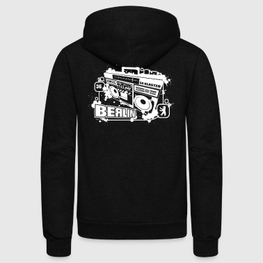 ED Ghettoblaster Hood Chiller Berlin - Unisex Fleece Zip Hoodie