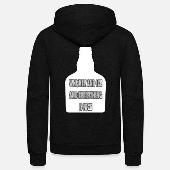 Alcoholic Hoodies & Sweatshirts - Scotch Whiskey Bouquet Bottle - Unisex Fleece Zip Hoodie black