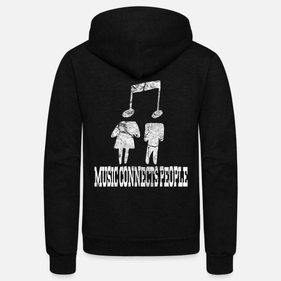 Gift Idea Hoodies & Sweatshirts - music singing singer - Unisex Fleece Zip Hoodie black